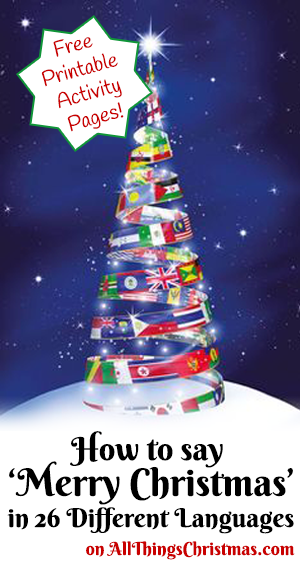 Merry Christmas Around the World - Free Printables