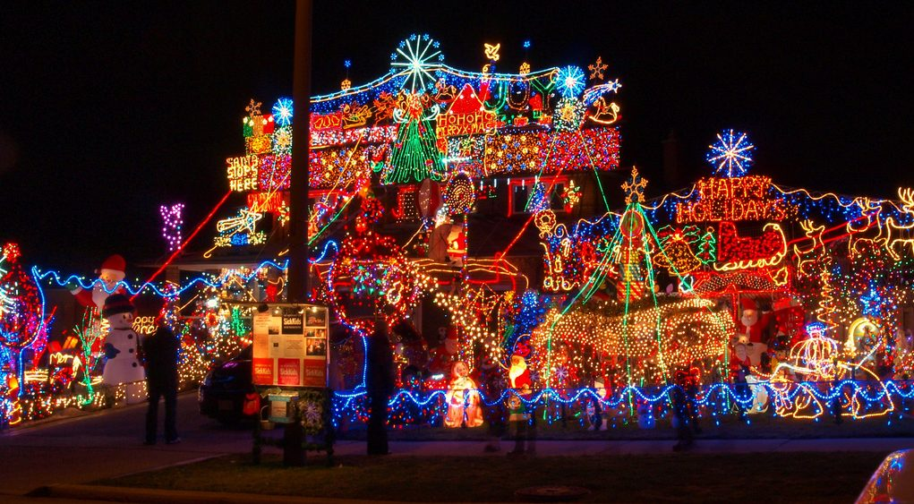 outdoor christmas light display - Outdoor Christmas Light