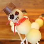 Christmas in July Treats - Melon Ball Snowmen