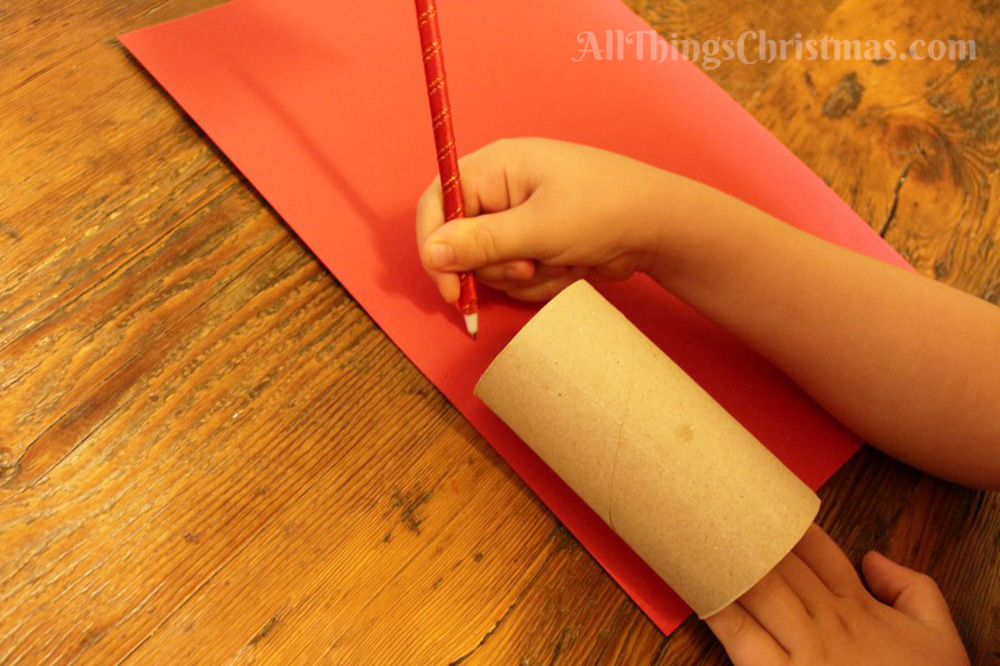 Kids Christmas Craft - Cardboard Tube Santa & Snowman