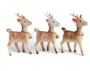 Vintage Christmas Decorations - Plastic Reindeer