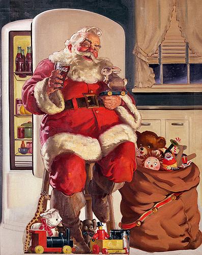 Santa Claus Coke 1947