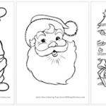 Santa Colouring Pages Featured