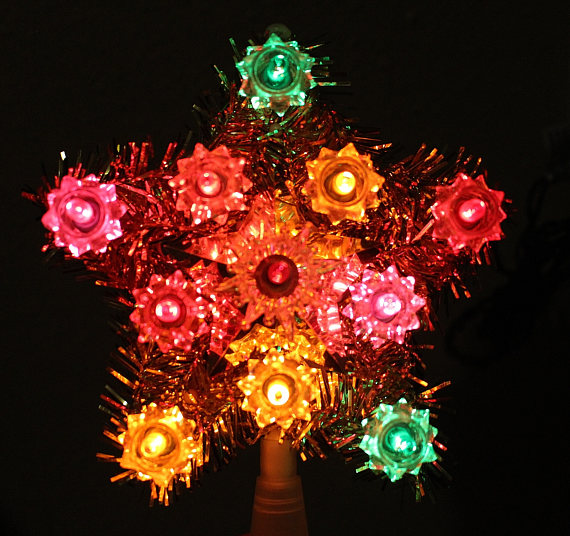 Vintage Christmas Tree Decorations - Topper