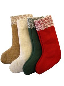 Victorian Christmas Decorations - Stockings