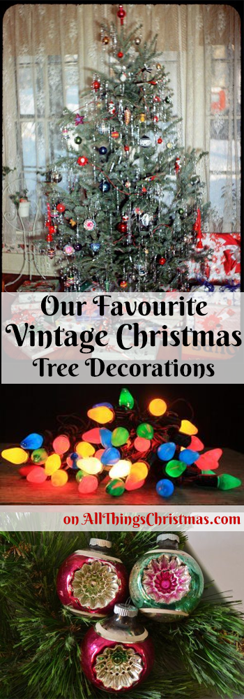 Vintage Christmas Decorations - Pin