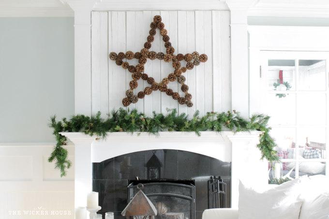 Best Pien Cone Crafts - Large Pine Cone Star