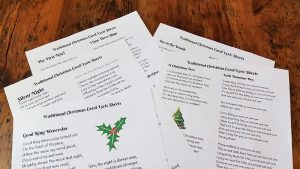 Free Christmas Carol Lyrics Download Printable