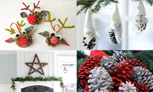 Easy Pine Cone Christmas Craft Ideas