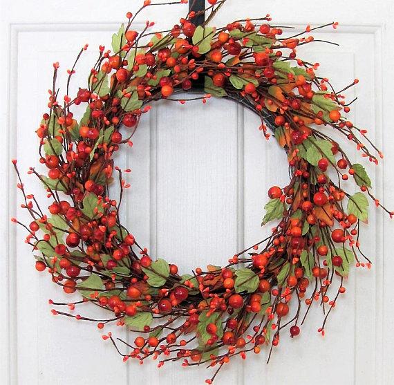 Best Fall Wreath Ideas - Orange