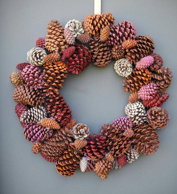 Best Fall Wreath Ideas - Pinecone