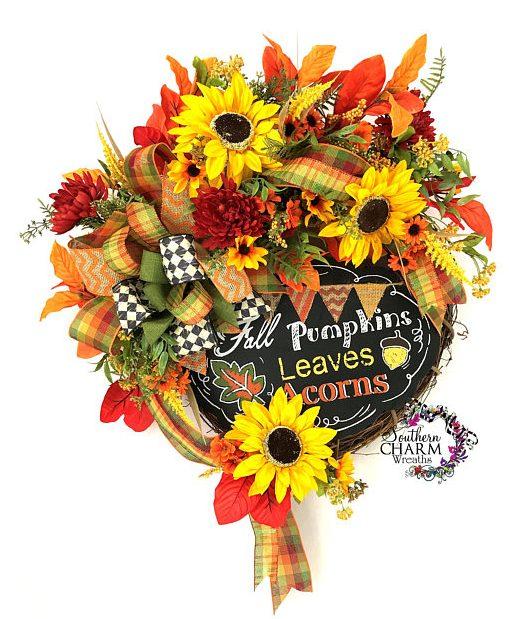 Best Fall Wreath Ideas - Southern Charm