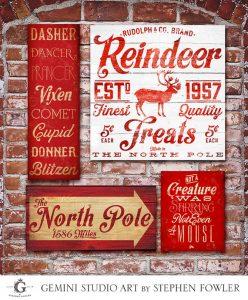 All Things Christmas Market Art and Home Decor - Gemini Studio