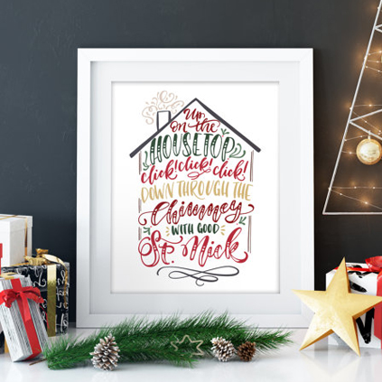 All Things Christmas Market Art and Home Decor - Printable Wisdom