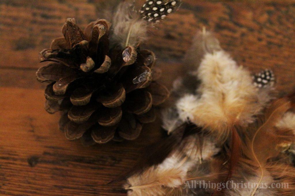 Kids Christmas Craft: Pine Cone Owl