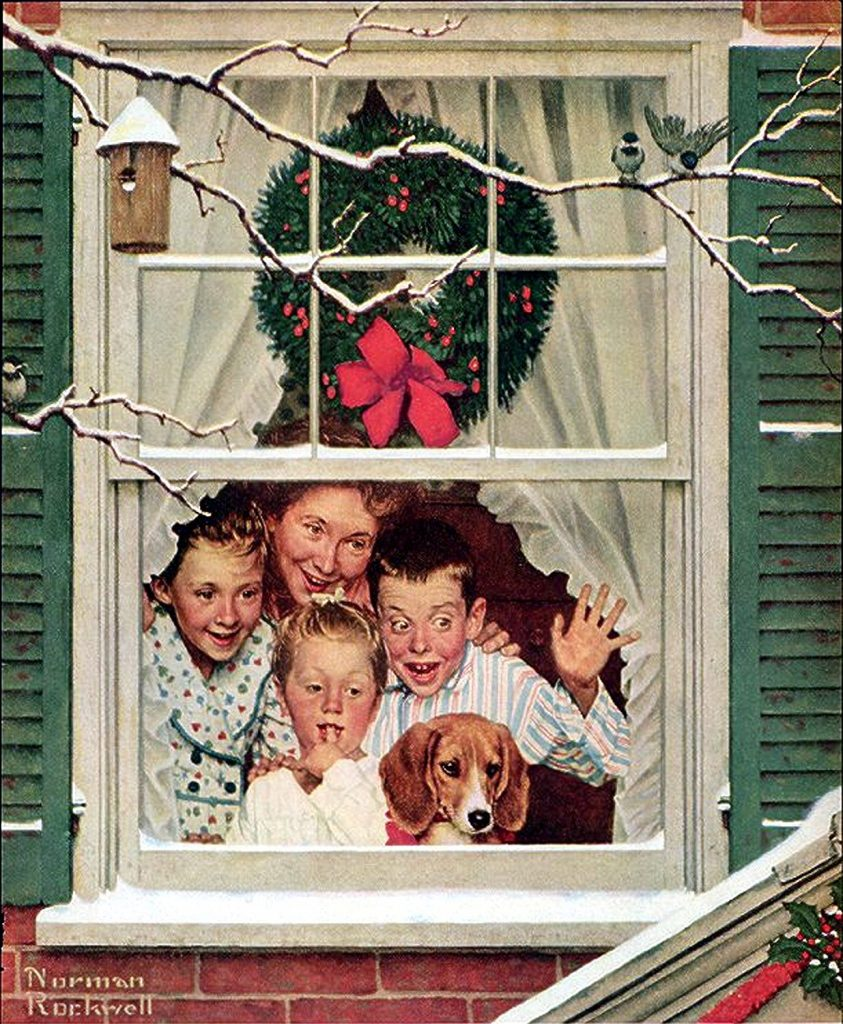 Norman Rockwell Christmas Vintage Art