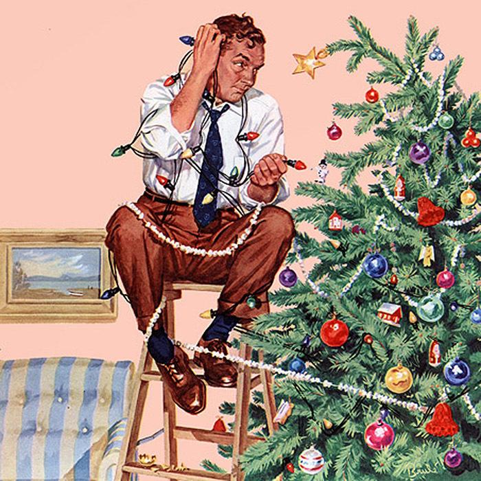 Black Tabletop Christmas Tree