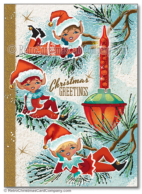 Vintage Christmas Cards - Retro Christmas Card Company