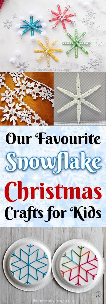 Snowflake Christmas Crafts on AllThingsChristmas.com