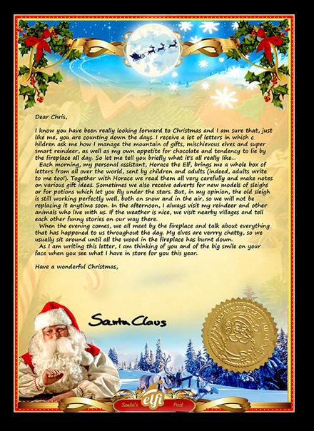 Elfi Letter from Santa