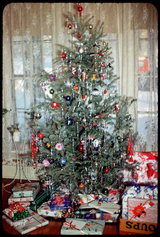 vintage christmas tree decorations retro ideas - Vintage Tinsel Christmas Tree