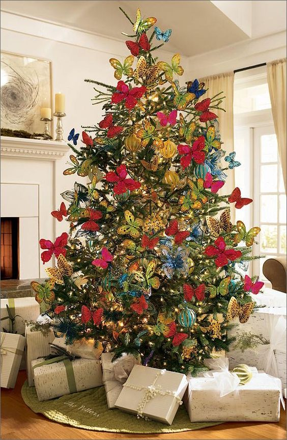 This is my favourite Summer Christmas Tree Ideas for 2019! Butterflies! If you want to keep your tree up all year, this is an easily and beautiful way to ...
