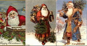 Free Christmas Cards Victorian Santa - Featured