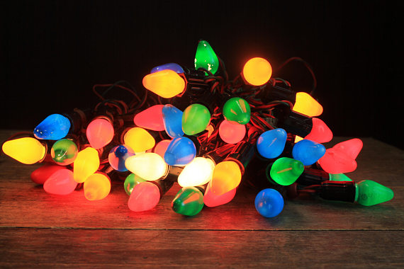 Vintage Christmas Tree Decorations - Lights