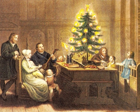 History of Christmas Trees - Martin Luther