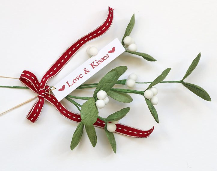 christmas decoration via etsy shop papertreeuk - Mistletoe Christmas Decoration