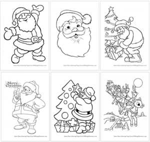 download your free printable santa claus coloring pages