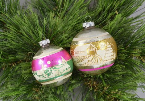 Vintage Christmas Decorations - Shiny Brite 1
