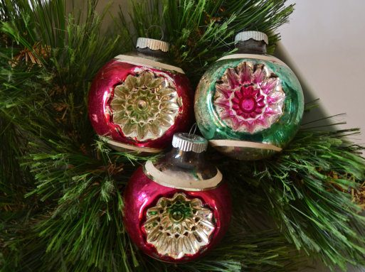 Original Vintage Christmas Tree Ornaments Vintage Christmas Decorations ...