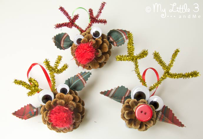 Easy Christmas Crafts - Best Pine Cone Crafts