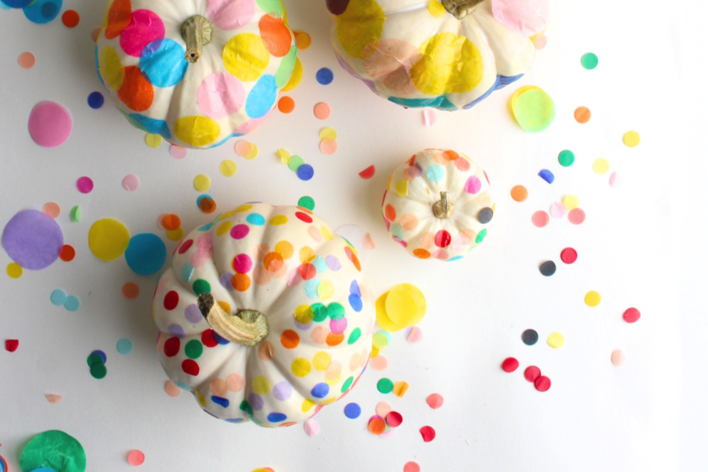Easy Pumpkin Craft ideas on AllThingsChristmas.com - Confetti