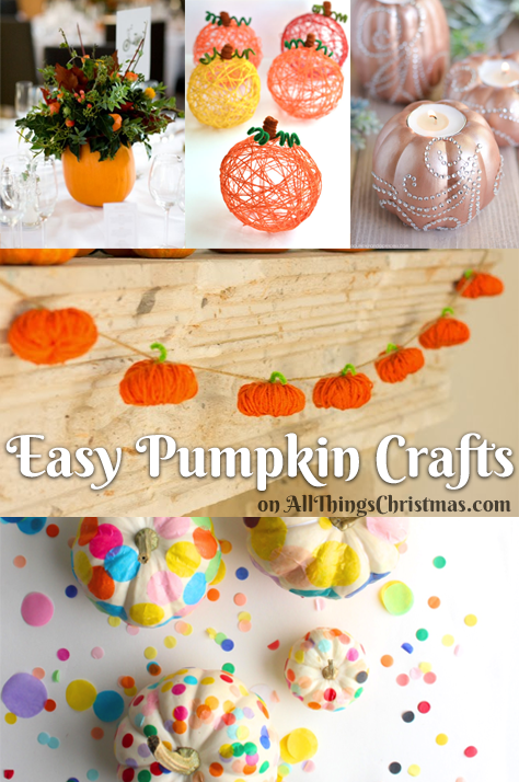 Easy Pumpkin Craft ideas on AllThingsChristmas.com
