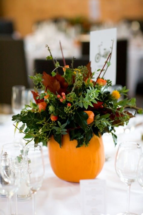 Easy Pumpkin Craft ideas on AllThingsChristmas.com - Pumpkin Vase