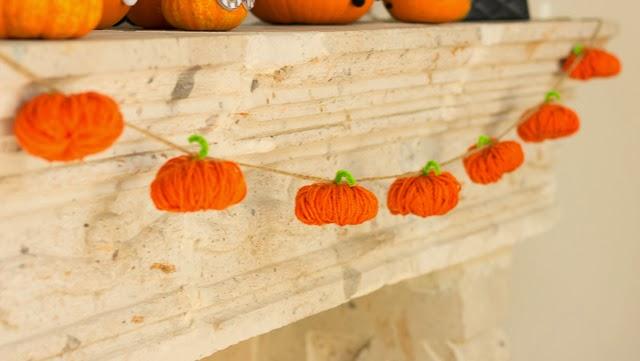 Easy Pumpkin Craft ideas on AllThingsChristmas.com - Pumpkin Garland