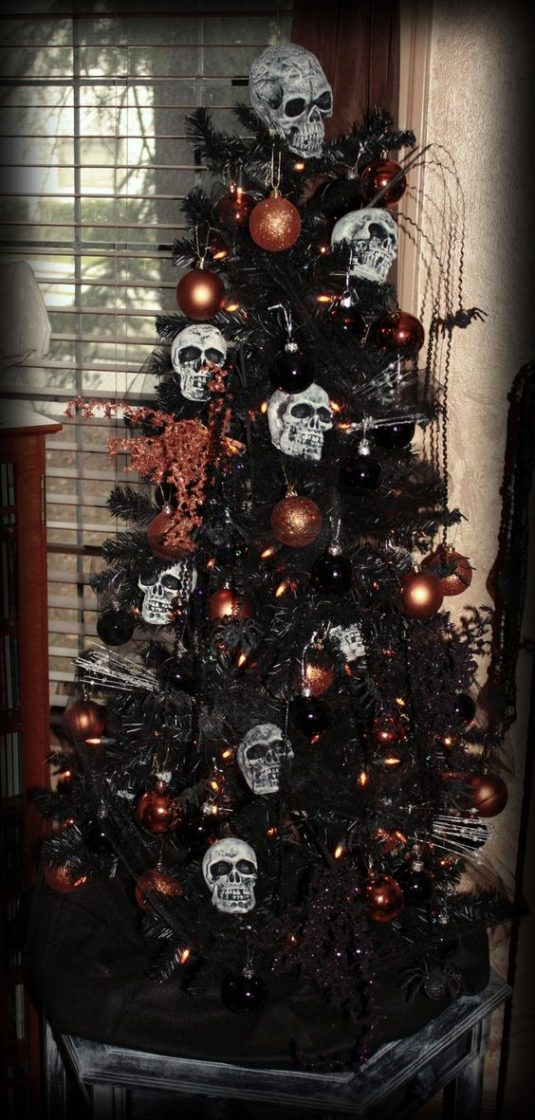 Best Halloween Christmas Tree Ideas 3 - Black Christmas Tree