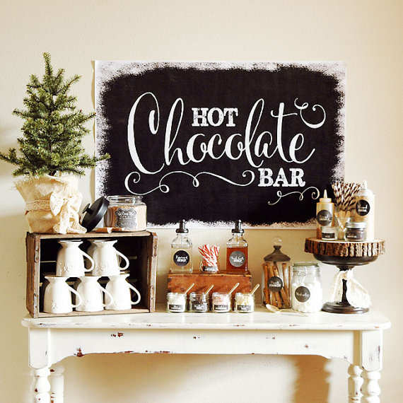 New Christmas Traditions - Hot Chocolate Bar