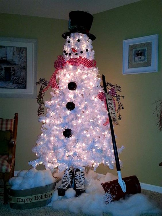 Christmas Tree Decoration Ideas - Snow 4