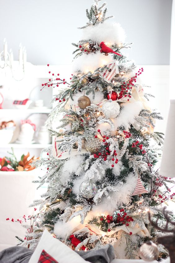Christmas Tree Decoration Ideas - Snow 6