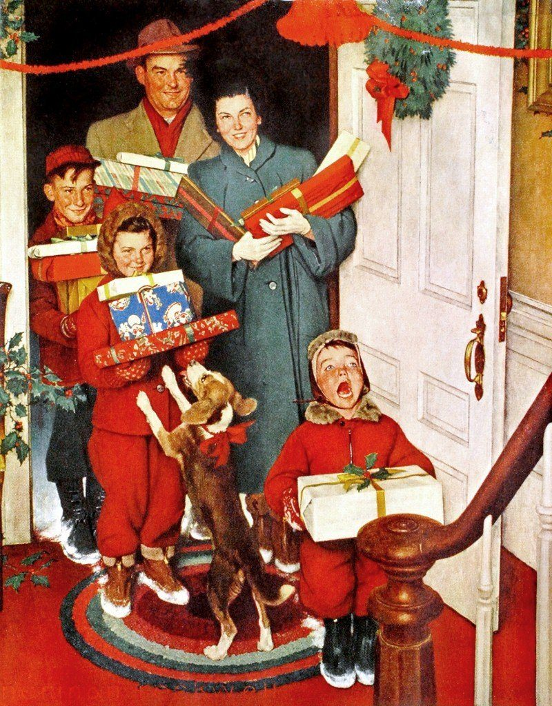 Best Norman Rockwell Christmas Vintage Art
