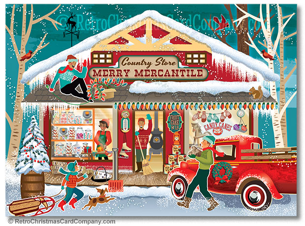 Awesome Retro Vintage Christmas Cards · All Things Christmas