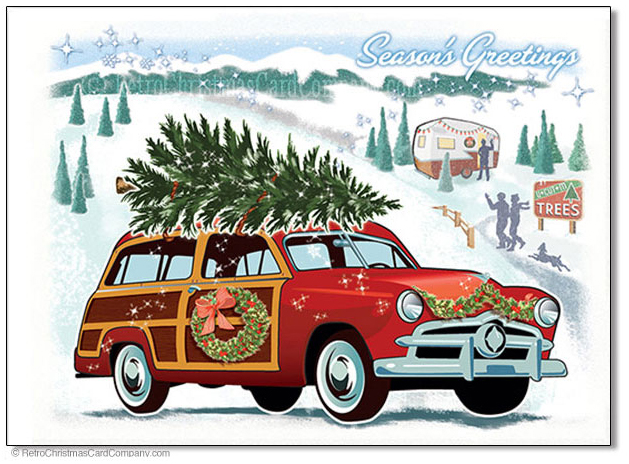 Vintage Christmas Cards - Retro Christmas Card Company