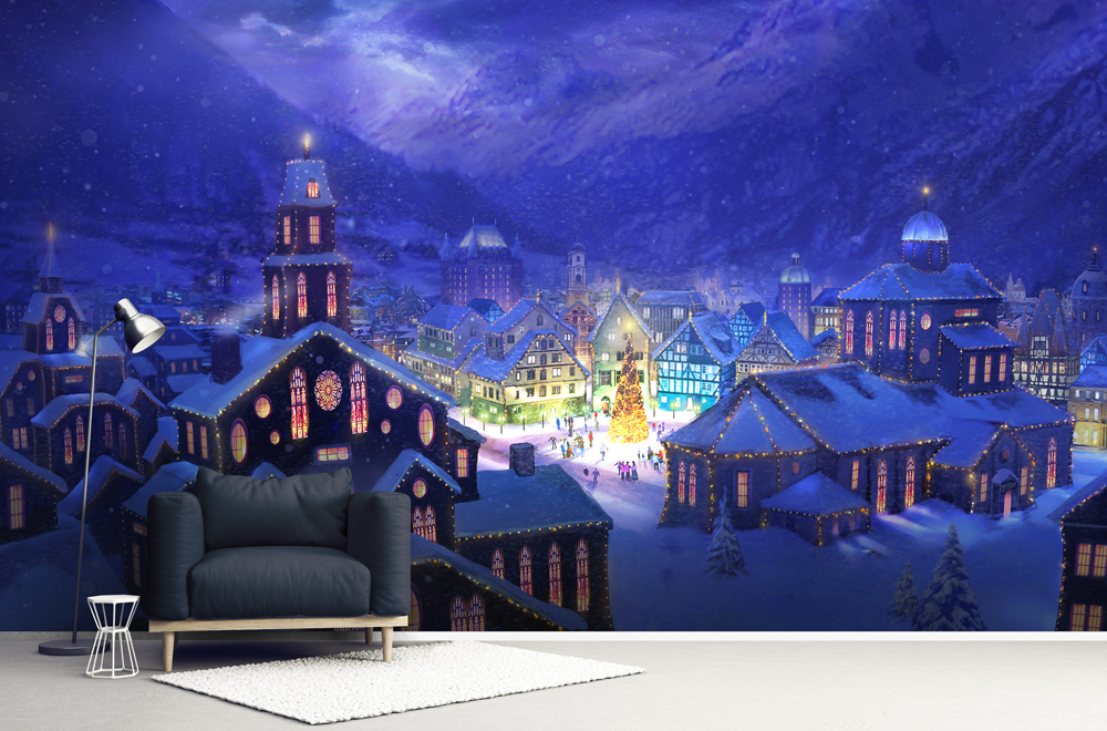 Best Christmas Murals - Christmas Town