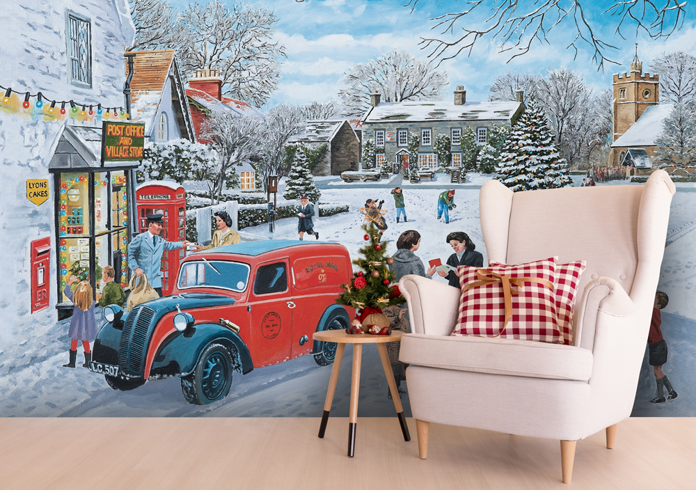 Best Christmas Murals - Retro Christmas