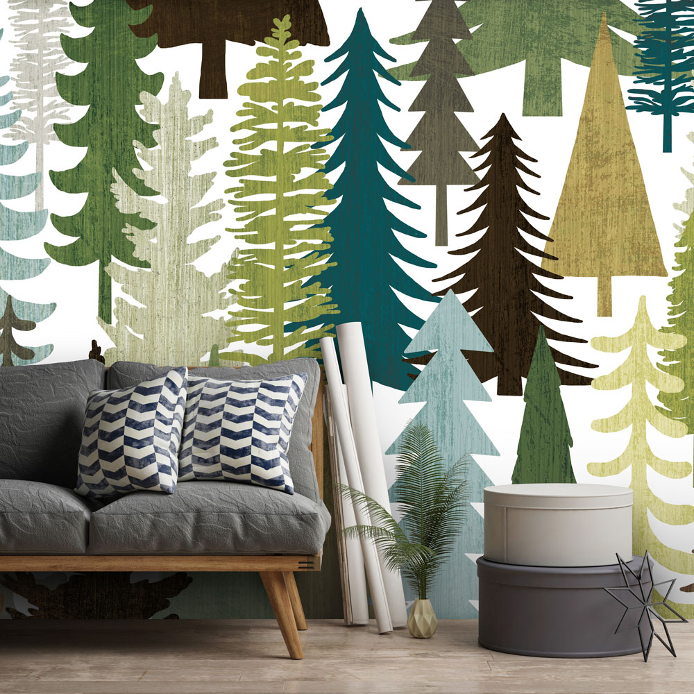 Best Christmas Murals - Woodland Trees