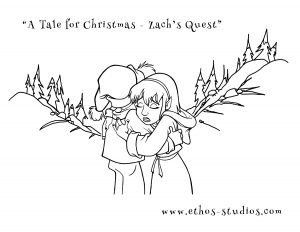 Free Christmas Download: Zach's Quest Colouring Pages