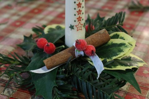 Handmade Advent Candle Craft with Hen Corner
